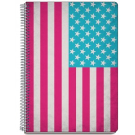 Notebook Hard Cover A5 US Flag
