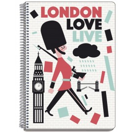 Notebook Hard Cover A5 London Colors