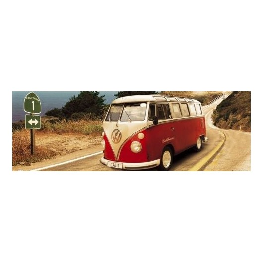 Poster Puerta Vw Californian Camper - Route One