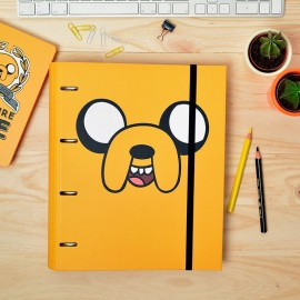 Carpeta 4 Anillas troquelada Carpeblock Adventure Time Jake