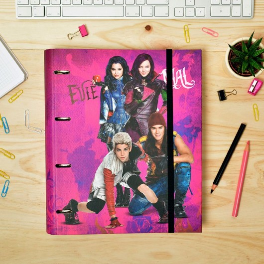Carpeta 4 Anillas troquelada Carpeblock Disney Descendants