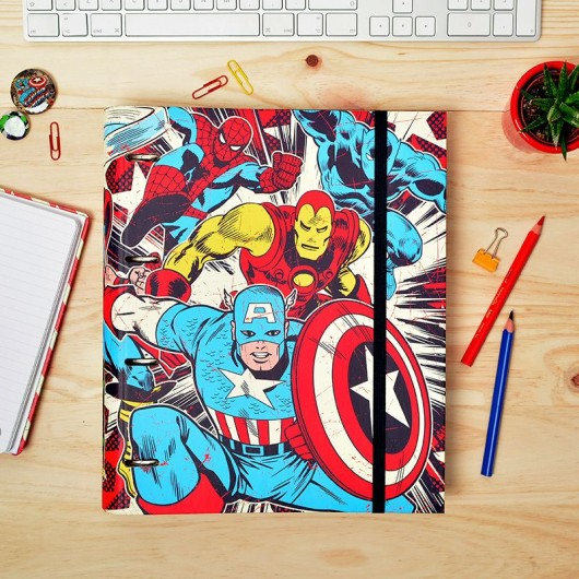 Carpeblock 4 Anillas Premium Marvel Comics