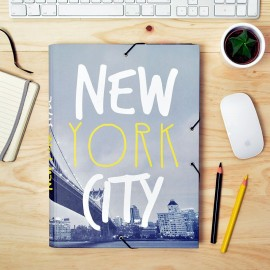 Carpeta Gomas Con Solapas  Cities New York