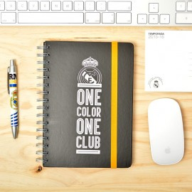 Notebook Cover Lined with Elastic Band Premium A5 Real Madrid