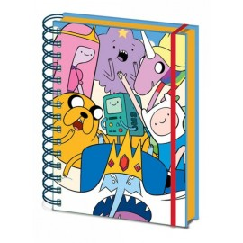 Cuaderno Premium Tapa Forrada A5 Adventure Time Characters