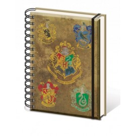 Libreta A5 Harry Potter Blasones