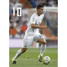 Postal Real Madrid James Rodríguez Acción
