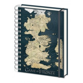 Cuaderno Tapa Forrada A5 Premium Game Of Thrones Map