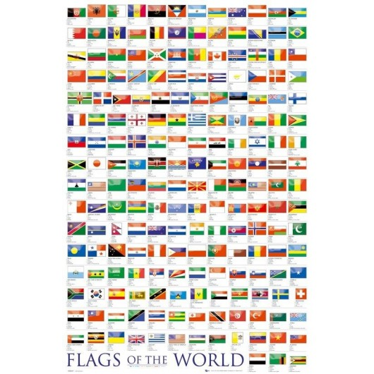 Maxi Poster Flags - Of The World 2010