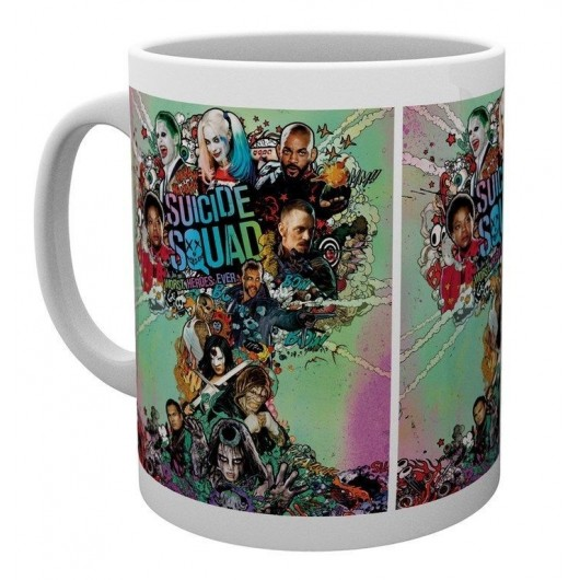 Taza Suicide Squad One Sheet