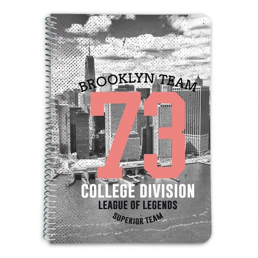 CUADERNO TAPA DURA A5 5X5 NEW YORK COLOUR
