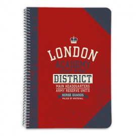 CUADERNO TAPA DURA A5 5X5 LONDON COLOUR