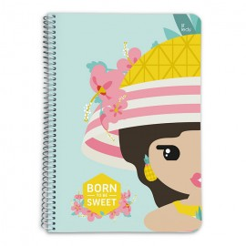 CUADERNO TAPA DURA A5 5X5 LIL LEDY PINEAPPLE