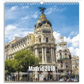 Calendario Turístico Mediano 2018 Madrid
