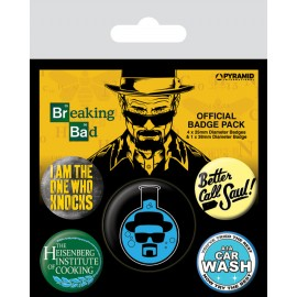 Pack de Chapas Breaking Bad (Heisenberg Flask)
