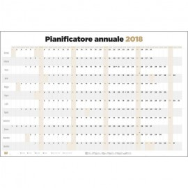 Poster Planificador Horizontal 2018 It