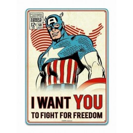 Tin Sign Small - Marvel (Captain America)