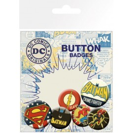 PACK CHAPAS DC COMICS RETRO