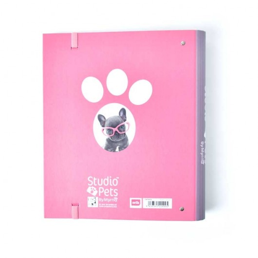 CARPETA 4 ANILLAS TROQUELADA PREMIUM STUDIO PETS DOG CAMERA