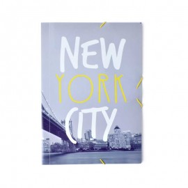 Carpeta Gomas Polipropileno New York Letters