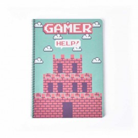 Cahier Couverture Rigide A4 Gamer Castillo
