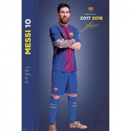 Poster Fc Barcelona 2017/2018 Messi Pose