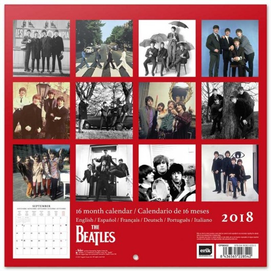 Calendario 2018 30X30 The Beatles