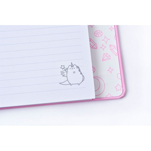 NOTEBOOK PREMIUM A5 SPINE WIRE-O PUSHEEN THE CAT