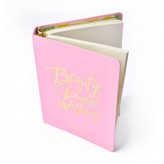 Notebook Premium A5 Spine Wire-O Beauty & The Beast Beauty Is Found Within