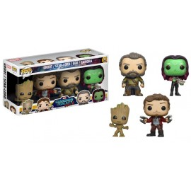 Pop Bobble 4 Pack Pop! Marvel Gotg2 Groot Star Lord Ego Gamora Exc