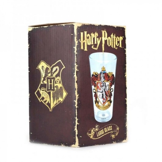 Glass Large Harry Potter (Gryffindor Crest)