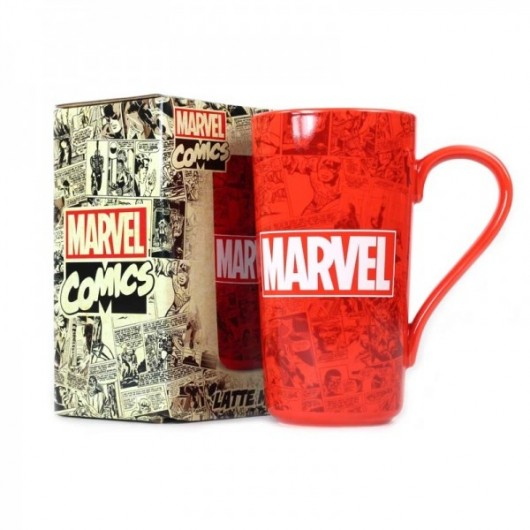 Mug Latte Boxed - Marvel (Marvel Logo)