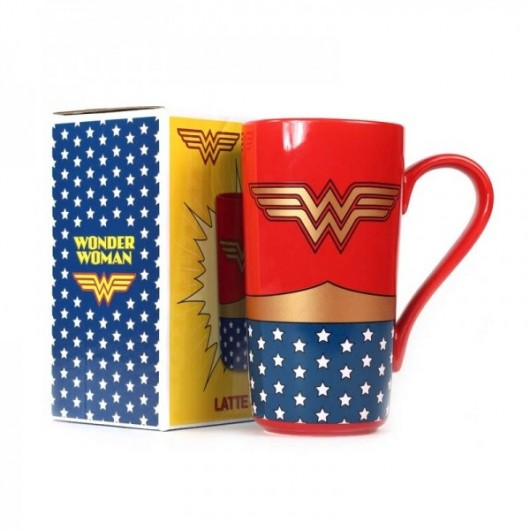 Mug Latte Boxed - Wonder Woman (Logo)