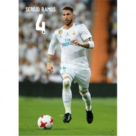 Postal Real Madrid 2017/2018 Sergio Ramos Accion