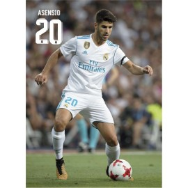 Postal Real Madrid 2017/2018 Asensio Accion