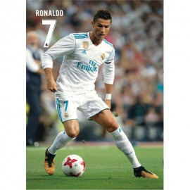 Postal Real Madrid 2017/2018 Ronaldo Accion