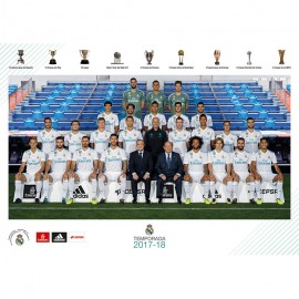 Postal Real Madrid A4 2017/2018 Plantilla