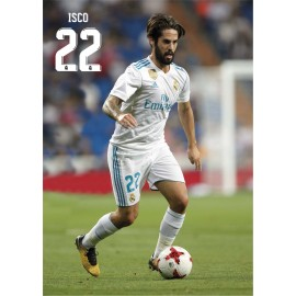 Postal Real Madrid A4 2017/2018 Isco Accion