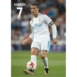 Postal Real Madrid A4 2017/2018 Ronaldo Accion