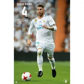 Poster Real Madrid 2017/2018 Sergio Ramos Accion
