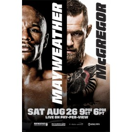 Poster Mayweather Vs Mcgregor Fight
