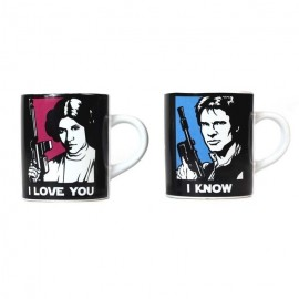 Taza Mug Mini Set Of 2 110Ml Star Wars I Love You