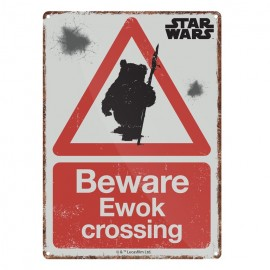 Tin Sign Small Star Wars Ewok