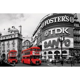 Maxi Poster Piccadilly Circus (London Red Buses)