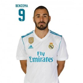 Postal Real Madrid 2017/2018 Benzema Busto