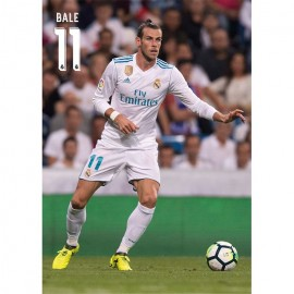 Postal Real Madrid A4 2017/2018 Bale Accion