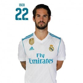 Postal Real Madrid A4 2017/2018 Isco Busto