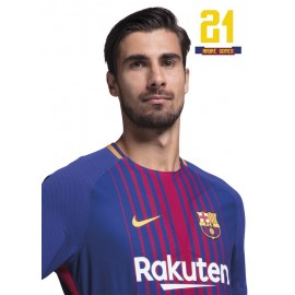 Postal Fc Barcelona 2017/2018 Andre Gomes Busto