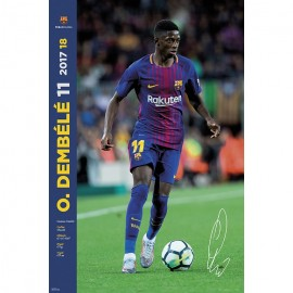 Poster Fc Barcelona 2017/2018 Dembele Accion
