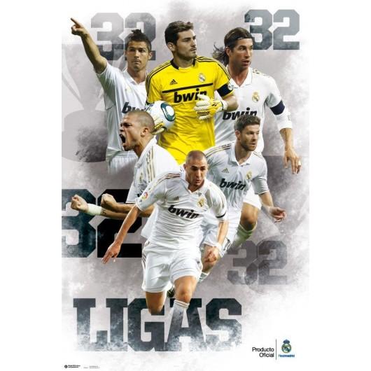 Maxi Poster Real Madrid - Campeones 32 Ligas Football
